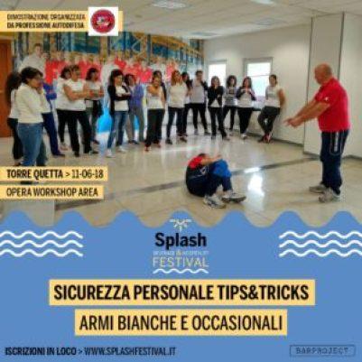 splash festival locandina professione autodifesa