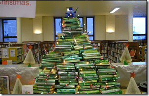 It's a Christmas Tree Made Out of Books!