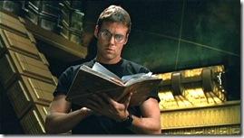 Daniel Jackson with a Book