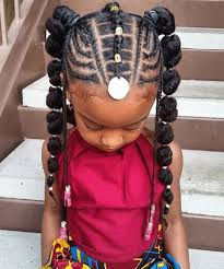 Adorable Natural Hair Little Black Girl Braided Hairstyles