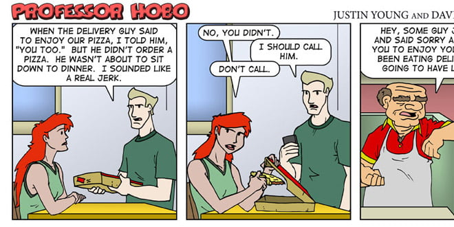 Ten most popular Professor Hobo comics of 2011