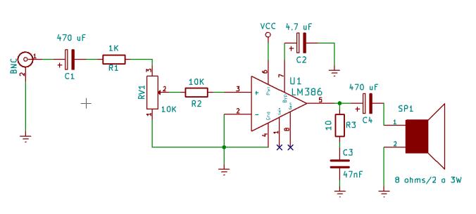 Amplificador LM386