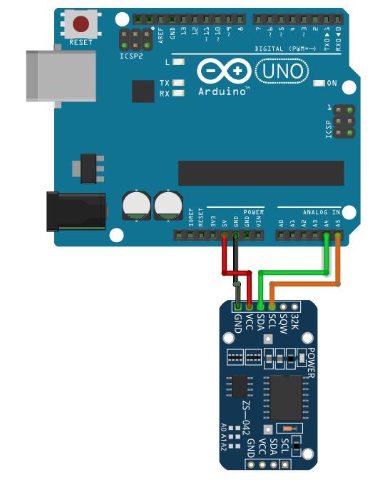 Conexión dell módulo a un Arduino UNO