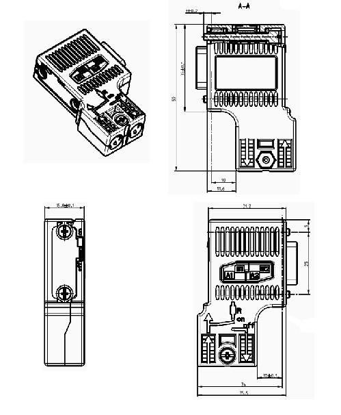 Profibus Connector » 6ES7972-0BA52-0XA0