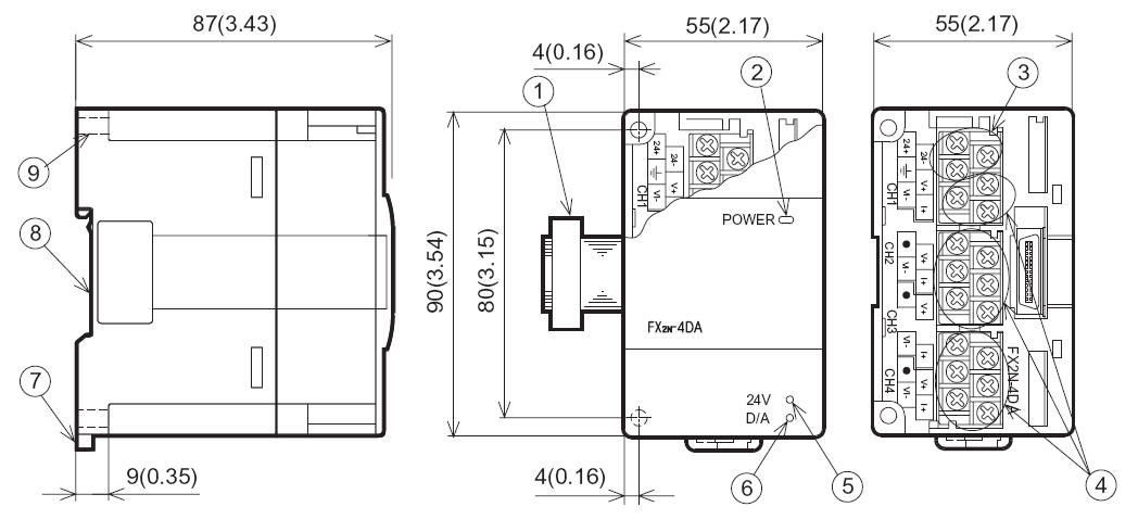 Profibus Connector » FX2N-4DA