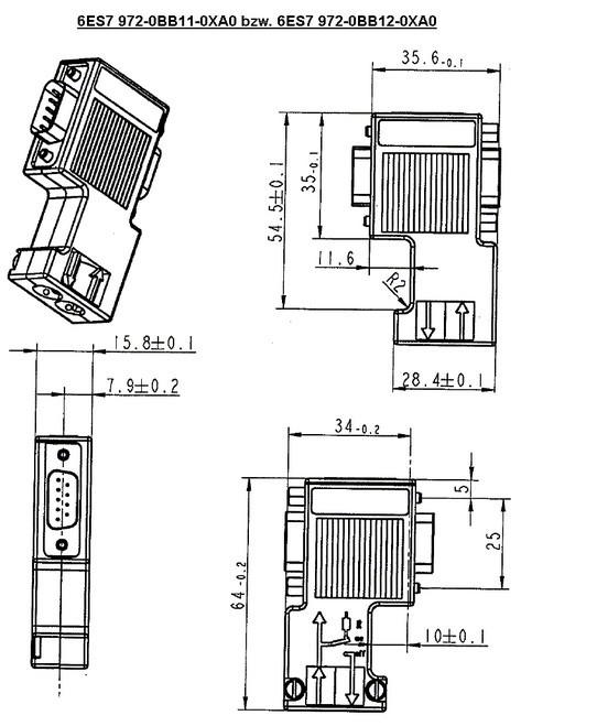 Profibus Connector » 6ES7972-0BB12-0XA0