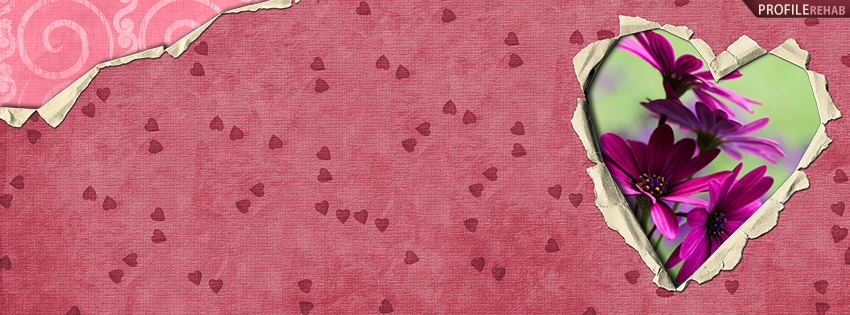 Cute Fall Wallpaper Backgrounds Maroon Hearts And Daisies Facebook Cover Cute Image Of Heart