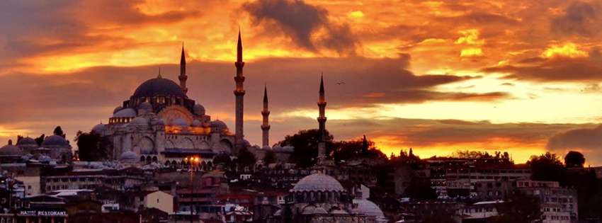Fall Turkey Wallpaper Scenic Istanbul Sunset Facebook Cover
