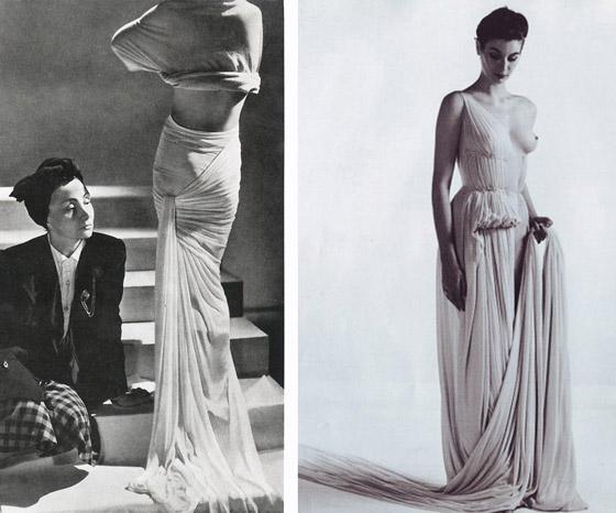 Z kolekce svatebních šatů Vera Wang pro sezónu jaro 2015 je cítit inspirace rukopisem hvězdné návrhářky Madame Grès (1903–1993, vlastním jménem Germaine Émilie Krebs).
