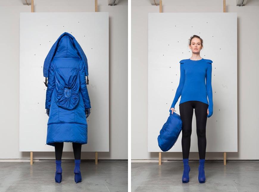 Top model Hany Zárubové z kolekce IFORM: chytrý kabát, nebo chcete-li chytrá bunda (foto: Michal Ures, modelka: Zuzana Marikova, styling: Alena Moravcova).