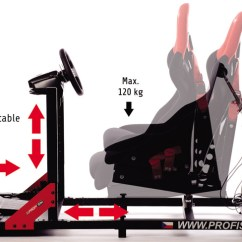 Flight Simulator Chair Motion How To Make A Bean Bag Profisim Racing Design