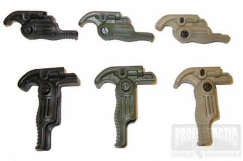 Predná taktická sklopná rukoväť