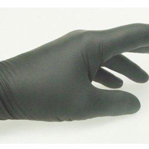 Jednorázové nitrilové  rukavice čierne