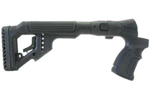 Tactical Folding Butt Stock for Mossberg 500 w/ Cheek Piece