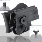 Pištoľové púzdro Cytac pre Glock 42 s pádlom + opasková redukcia + molle redukcia 2