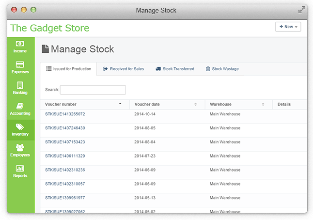 Manage Stock Movements