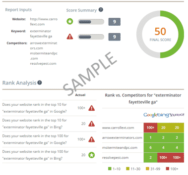 Free SEO Report Card - Compare Your Website to a Competitor - SEO