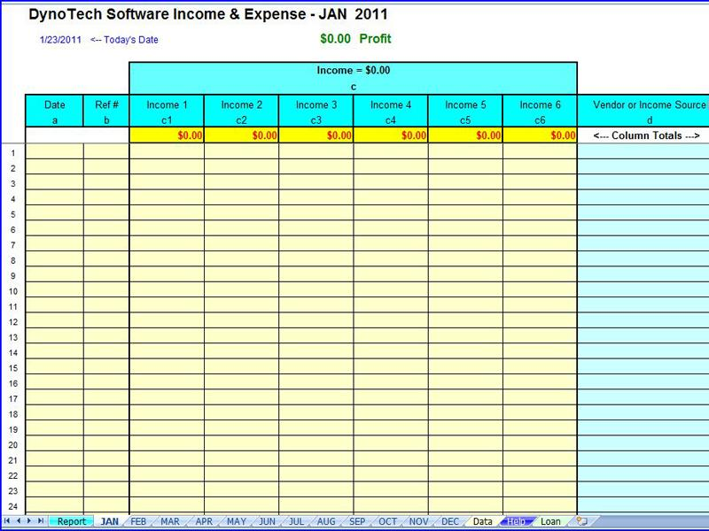 small business tax expenses template