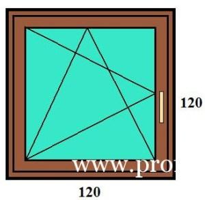 120×120 bukó-nyíló egyszárnyú műanyag ablak