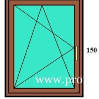 120x150 műanyag ablak