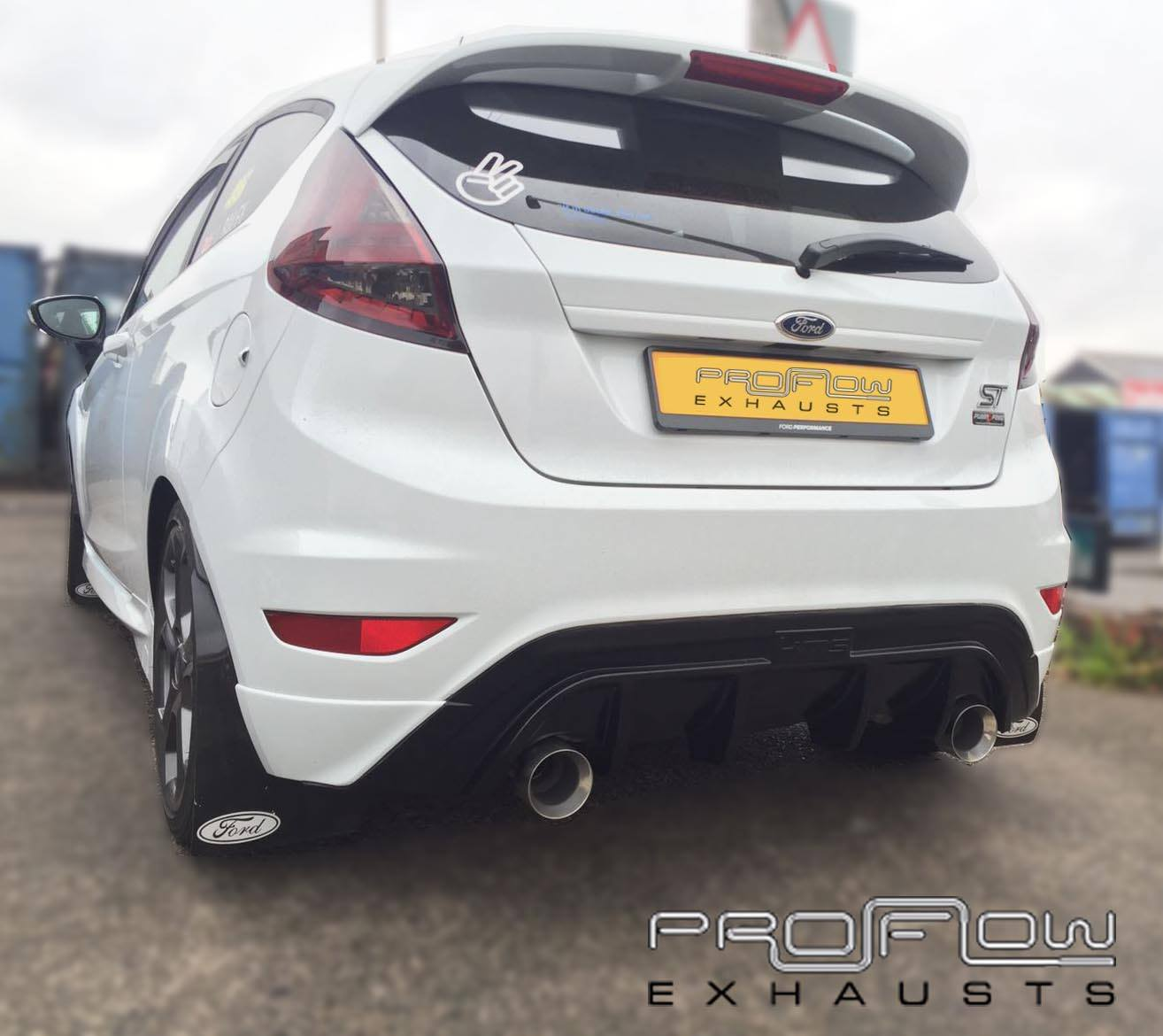 ford fiesta st fitted with proflow duel