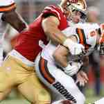 Nick Bosa sacks Baker Mayfield - 49ers vs. Browns - Monday Night Football