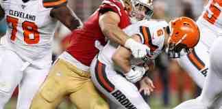 Nick Bosa sacks Baker Mayfield - 49ers vs. Browns - Monday Night Football