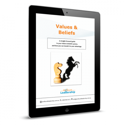 Values & Beliefs - cover image - Professional Development - Personal Development - Leadership Skills - PDF Download