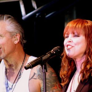 The American rock singer Pat Benatar with her Guitarist and husband Neil Giraldo