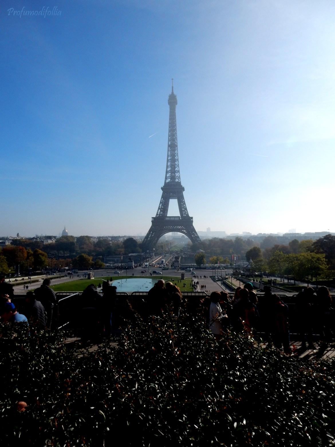 La Tour Eiffel vista dai Jardins du Trocadéro