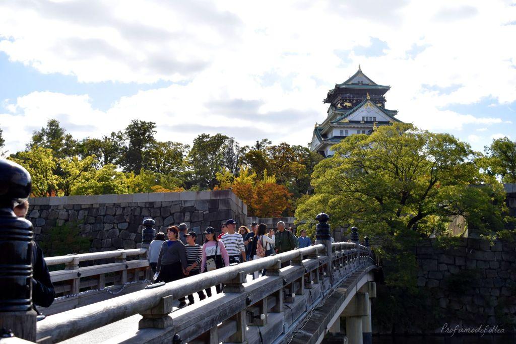 Castello di Osaka visto dal ponte [Una settimana in Giappone: Osaka]