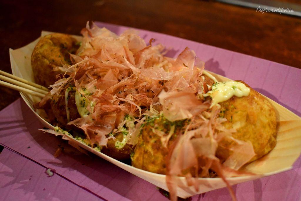 Vassoio di takoyaki con tonno secco [Una settimana in Giappone: Osaka]