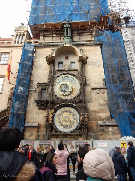 24 ore a Praga orologio astronomico lavori in corso