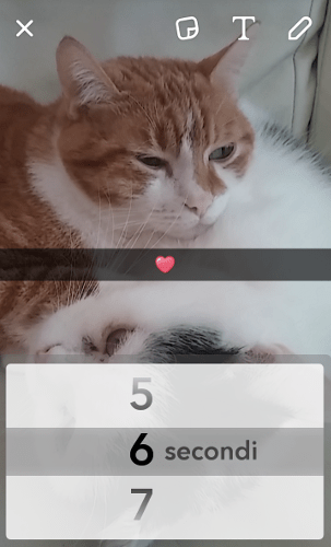 Snapchat: durata di uno snap