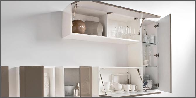 Pensili della cucina che sistema di apertura scegliere