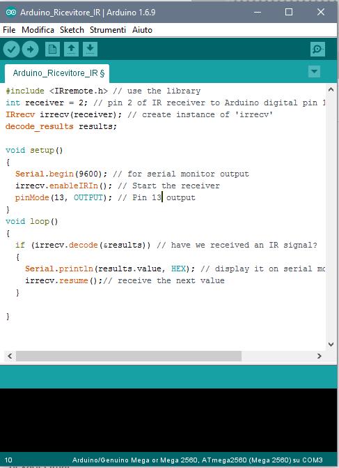 16 Arduino Telecomando Ir Tsop1738 Progetti Arduino