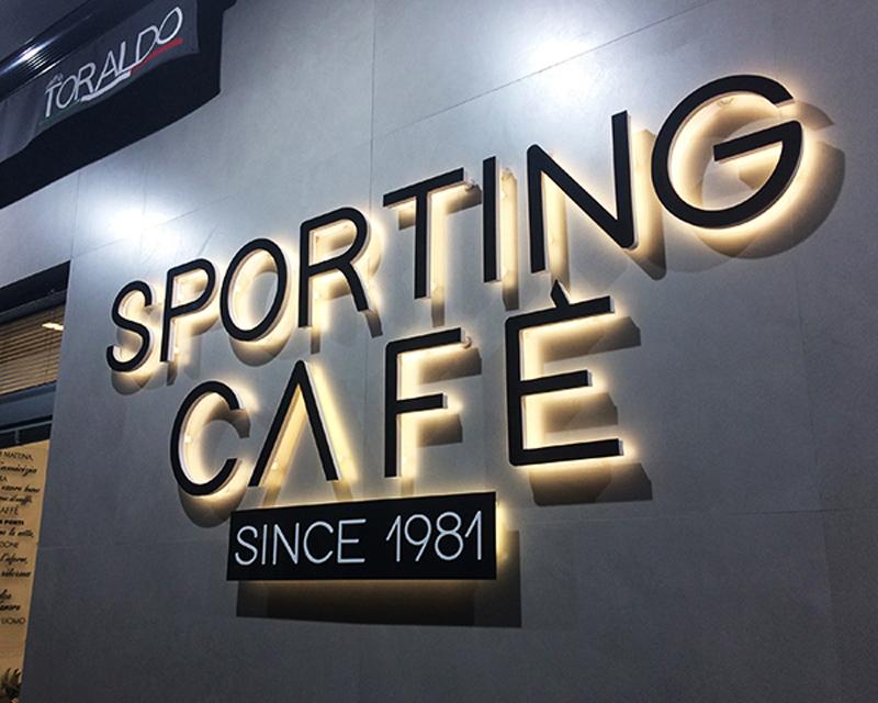 sporting cafe retroilluminata