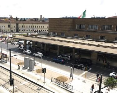 Piazza della Stazione dopo l'inaugurazione della tramvia