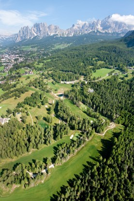 Cortina d'Ampezzo Golf Court, aerial view (2010)