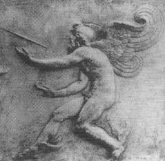 """This bas-relief of """"Kairos"""" was once at the Palazzo Medici in Florence, but now has been lost."""