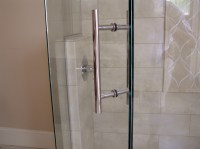 Enclosure Door Handles & A Brass And Lucite Towel Holder ...