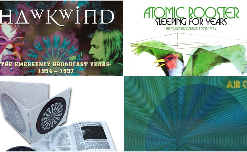 Reviews – Esoteric Reissue Round Up – Hawkwind, Atomic Rooster & Curved Air –  By James R Turner