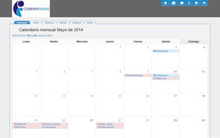 Calendario de visitas para el comercial