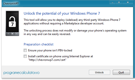 Program de deblocat telefoane Windows Phone 7