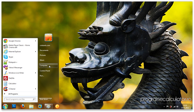 Temă Windows 7 cu dragoni   Year of the Dragon Theme for Windows 7