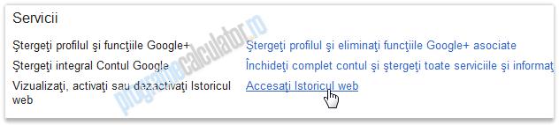 accesati istoricul web