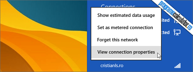 view connection properties