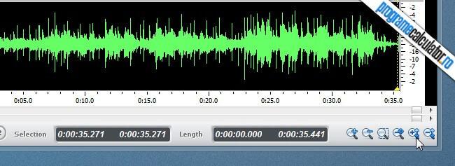 program de taiat melodii - Power Sound Editor - Zoom Vertical