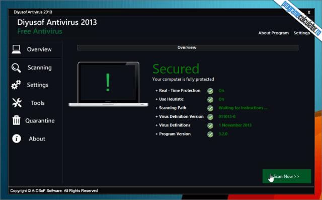 1-Diyusof Antivirus-interfata