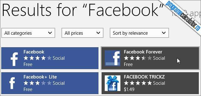 2-Windows Store-Facebook-aplicatie
